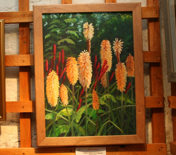 Yellow Pokers and Crimson Persicaria - Valeria Bateson